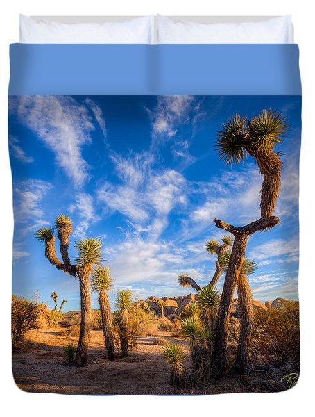 Duvet Cover featuring the photograph Joshua Tree Dawn by Rikk Flohr