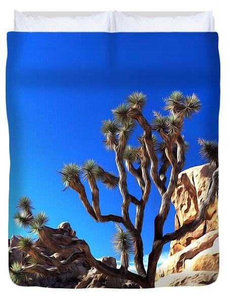Joshua Tree Dreams Duvet Cover by Joe Schofield