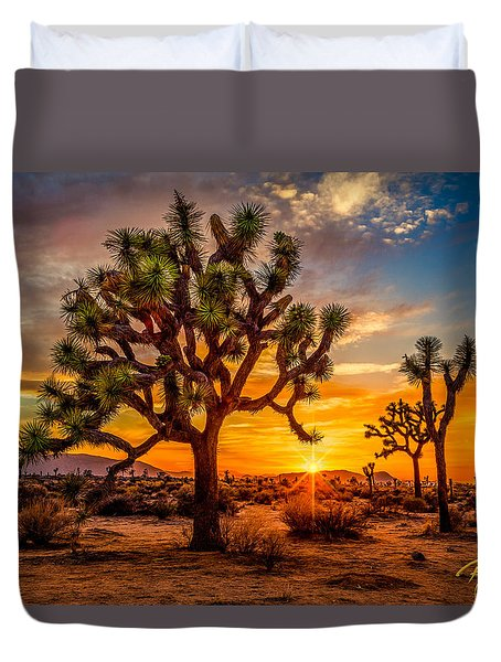 Joshua Tree Glow Duvet Cover