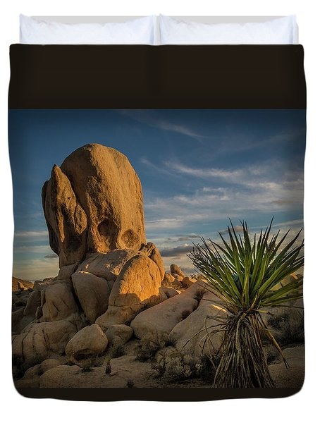 Joshua Tree Rock Formation Duvet Cover