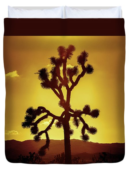 Duvet Cover featuring the photograph Joshua Tree by Stephen Stookey