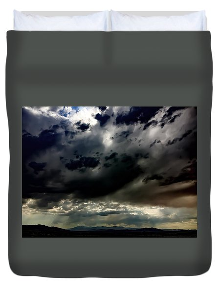 Joshua Tree Storm Duvet Cover by Chris Tarpening