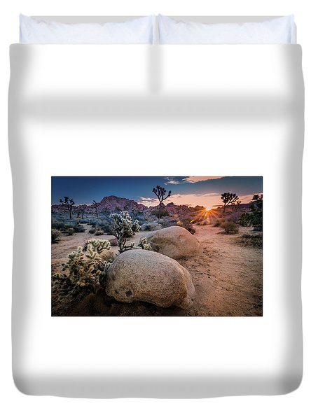 Joshua Tree Sunrise Duvet Cover