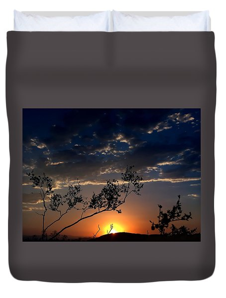 Joshua Tree Sunset Duvet Cover by Chris Tarpening
