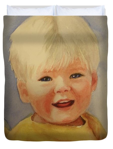 Joshua's Youngest Brother Duvet Cover by Marilyn Jacobson