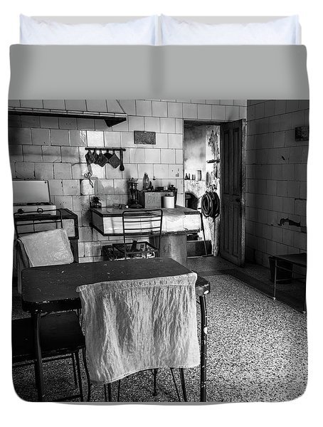 Duvet Cover featuring the photograph Josie's Kitchen Havana Cuba by Joan Carroll
