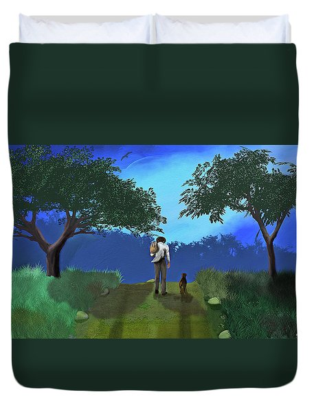 Journey From Desparation To Hope Duvet Cover