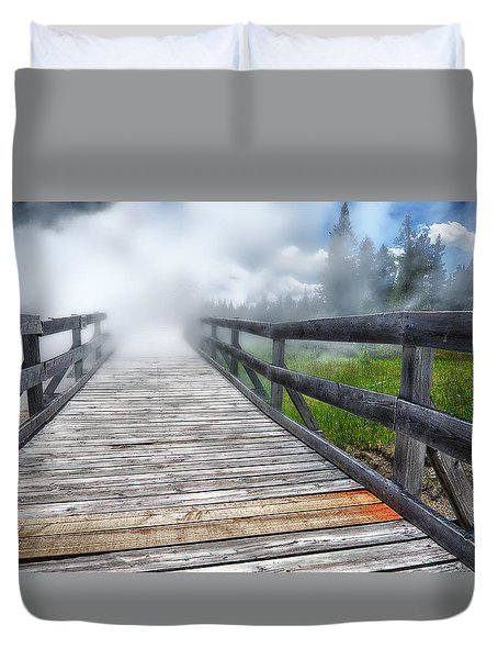 Journey Into The Unknown Duvet Cover