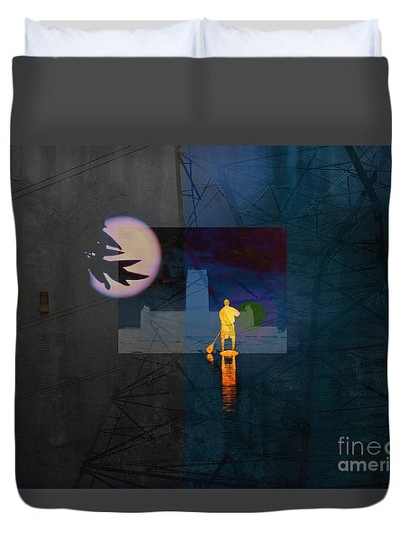 Journey Through Muddy Waters Duvet Cover by Robert Ball