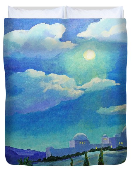 On A Cold Winter's Night Duvet Cover