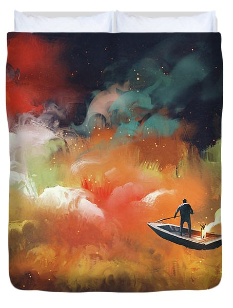 Journey To Outer Space Duvet Cover