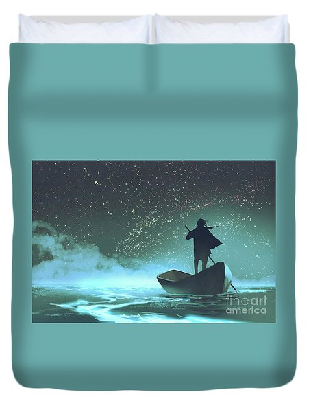 Journey To The New World Duvet Cover
