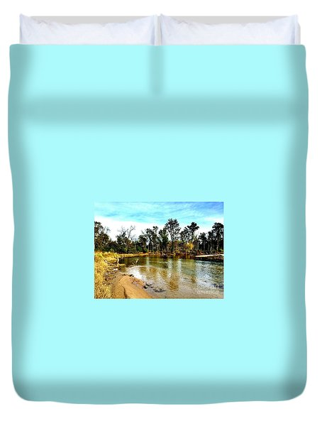 Journey To The Rivers Bend Duvet Cover
