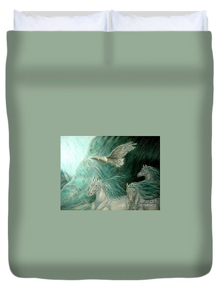 Journeyscape-out Of Darkness Duvet Cover by Kim Jones