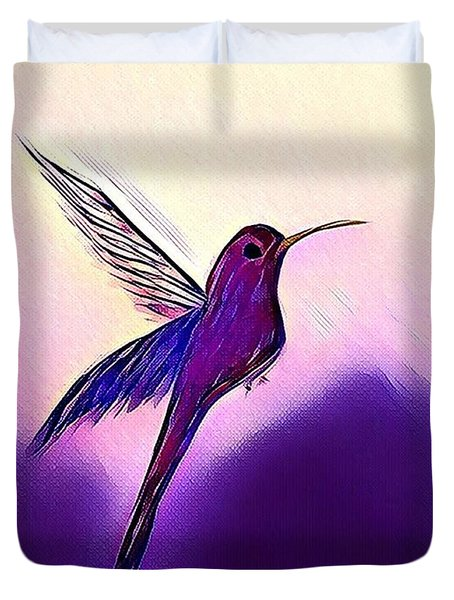 Duvet Cover featuring the painting Joy by Margaret Welsh Willowsilk