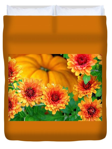 Joy Of Autumn Duvet Cover by Angela Davies