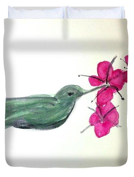 Joy Of Hummingbird Duvet Cover
