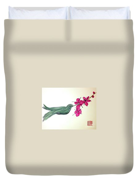 Joy Of Hummingbird Duvet Cover