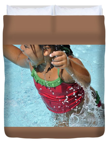 Joy Of Swimming Duvet Cover