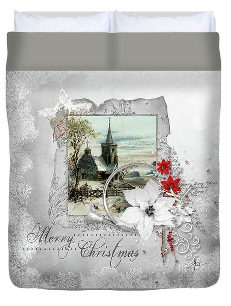 Joy To The World Duvet Cover by Mo T
