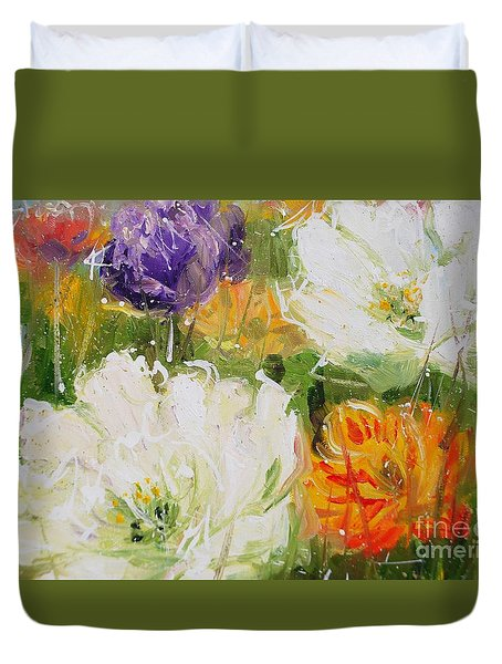 Joy With Tulips Duvet Cover