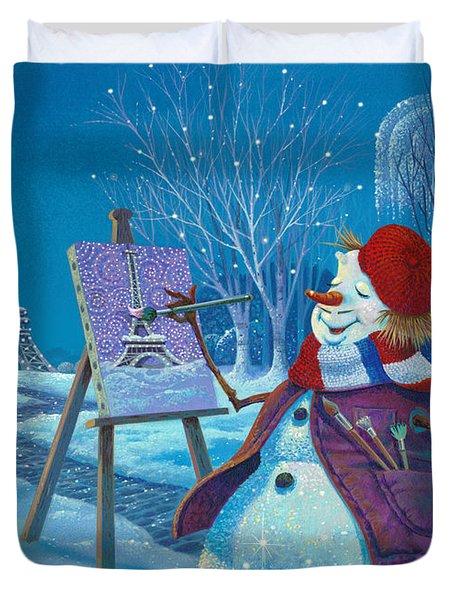 Joyeux Noel Duvet Cover