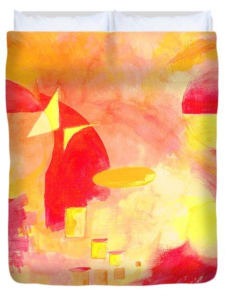 Joyful Abstract Duvet Cover