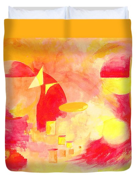Joyful Abstract Duvet Cover