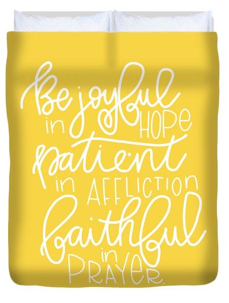 Joyful In Hope Duvet Cover