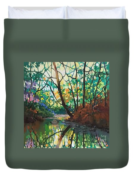 Joyful Morning Duvet Cover