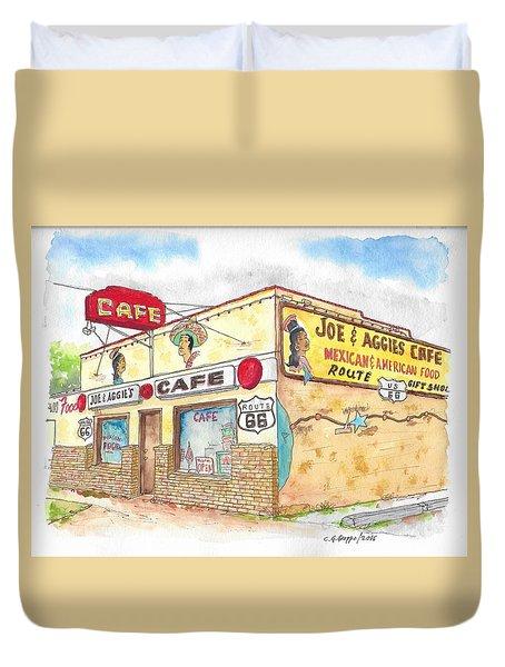 Joe And Aggies Cafe, Route 66, Holbrook, Arizona Duvet Cover