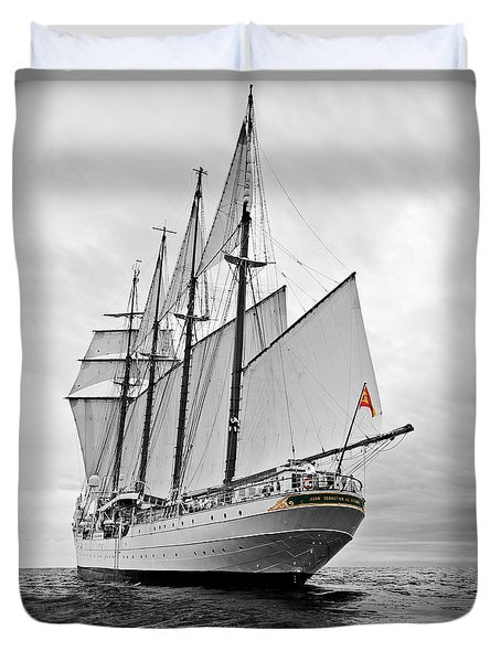 Juan Sebastian De Elcano In Its World Wild Travel Duvet Cover