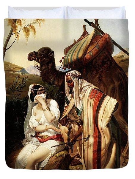 Judah And Tamar Duvet Cover