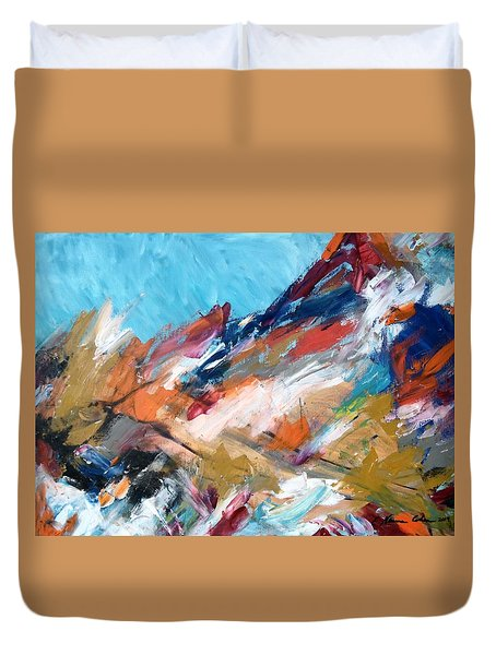Judean Hill Abstract Duvet Cover