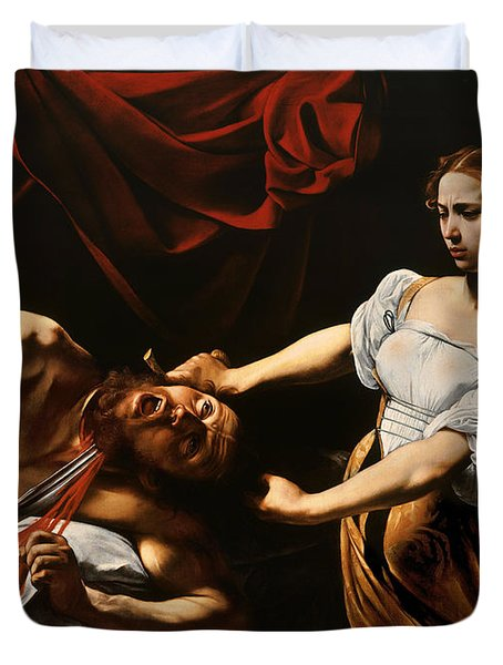 Judith And Holofernes Duvet Cover