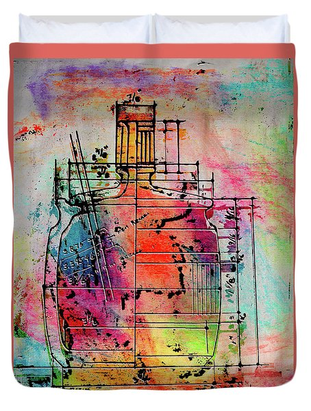 Jug Drawing Duvet Cover by Don Gradner