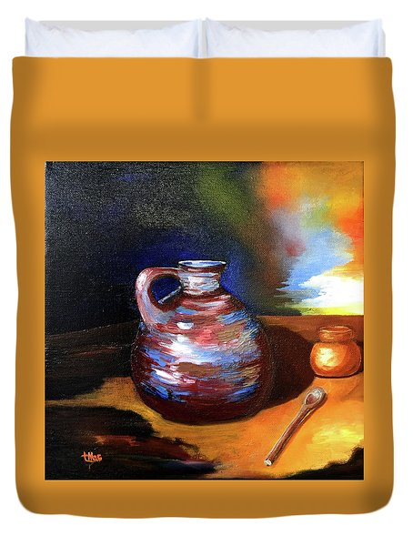 Jug Mug And Spoon Duvet Cover