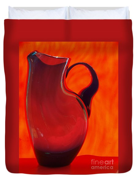 Duvet Cover featuring the photograph jug by Trena Mara