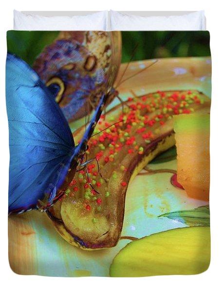 Juicy Fruit Duvet Cover by Debbi Granruth