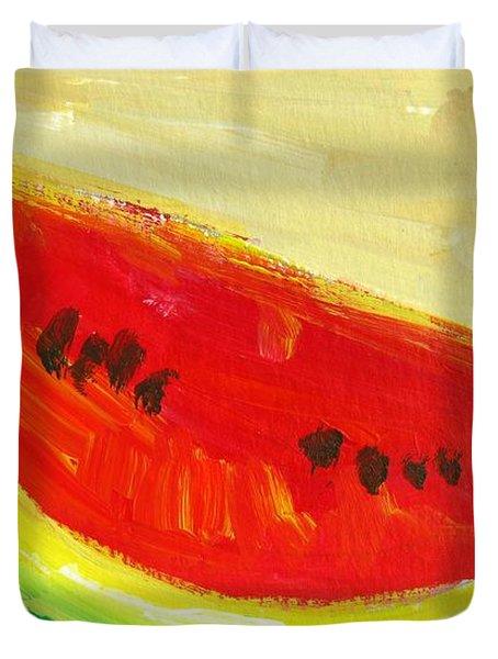 Juicy Watermelon - Kitchen Decor Modern Art Duvet Cover