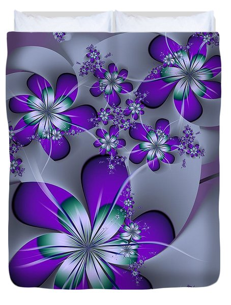 Duvet Cover featuring the digital art Julia The Florist by Michelle H