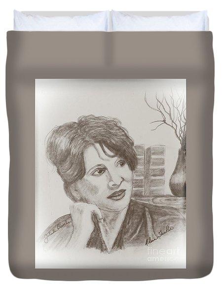 Juliette Binoche Duvet Cover