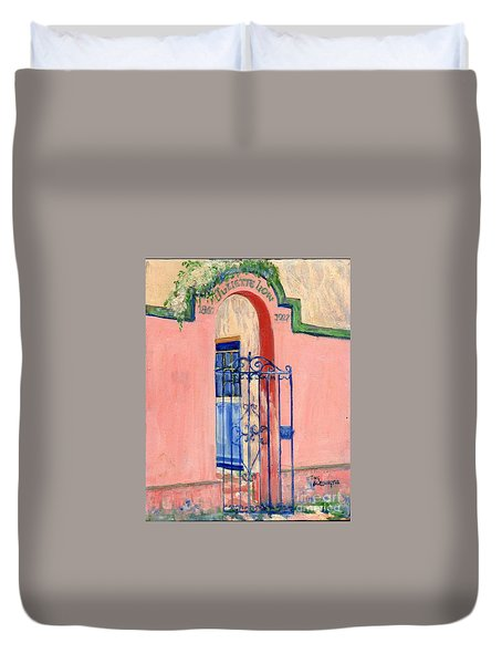 Juliette Low Garden Gate Savannah Duvet Cover