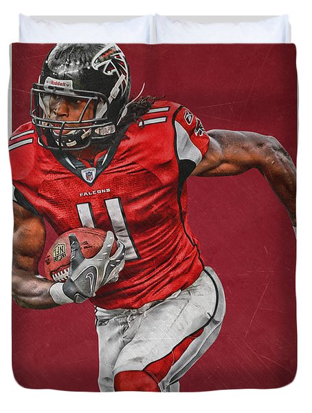 Julio Jones Atlanta Falcons Art Duvet Cover