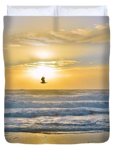 July 30 Sunrise Nh Duvet Cover