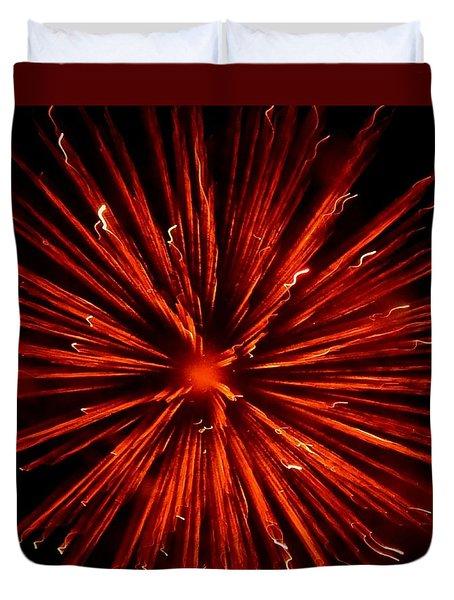 July 4 Fireworks Duvet Cover