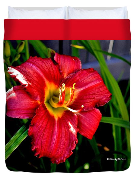 July Lily Duvet Cover