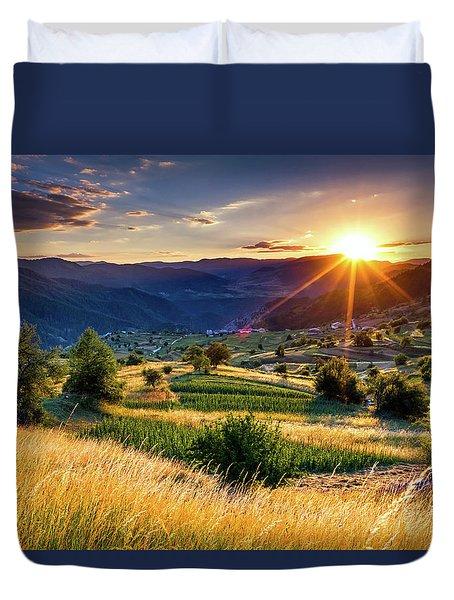 July Sun Duvet Cover by Evgeni Dinev