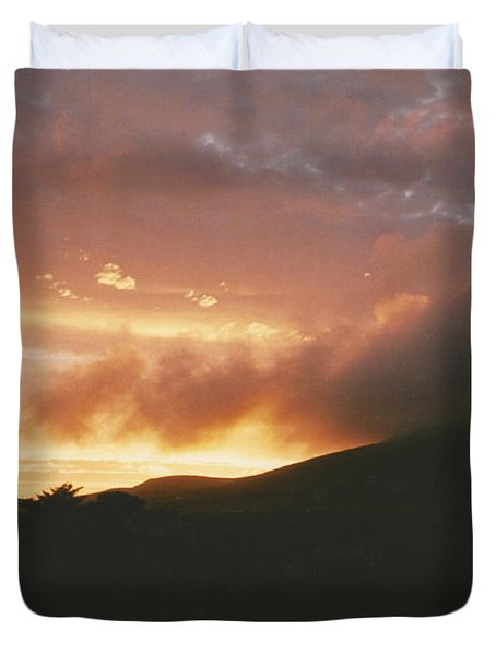 July Sunset Duvet Cover