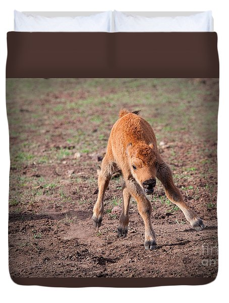 Duvet Cover featuring the photograph Jump For Joy by Laurinda Bowling